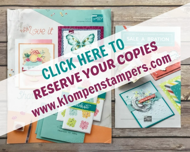 Reserve your copy of the 2018 Stampin' Up! Occasions Catalog & Sale-a-bration Brochure