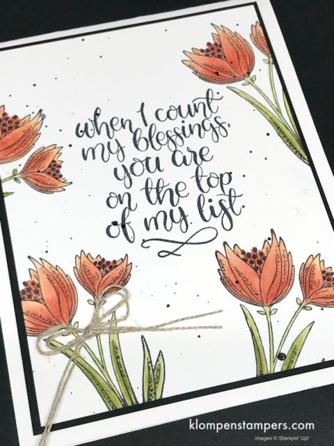 Count My Blessings is a great stamp set to color with Blends!