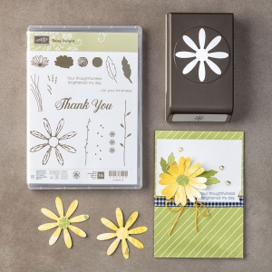 Daisy Delight stamp set and Daisy Punch together in a bundle