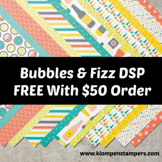 Bubbles & Fizz Sale-a-bration Designer Series Paper. Free with an order