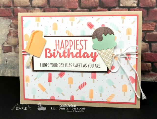 Cool Treats online stamping class & Tutorial.
