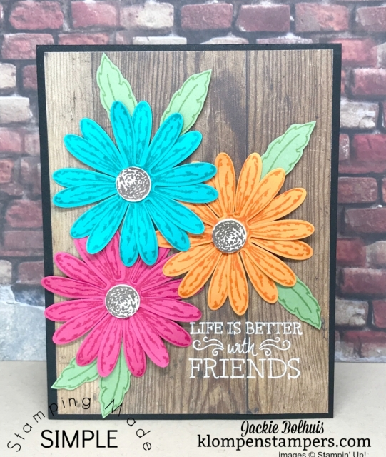Bright & Bold card using Daisy Delight and Daisy Punch.