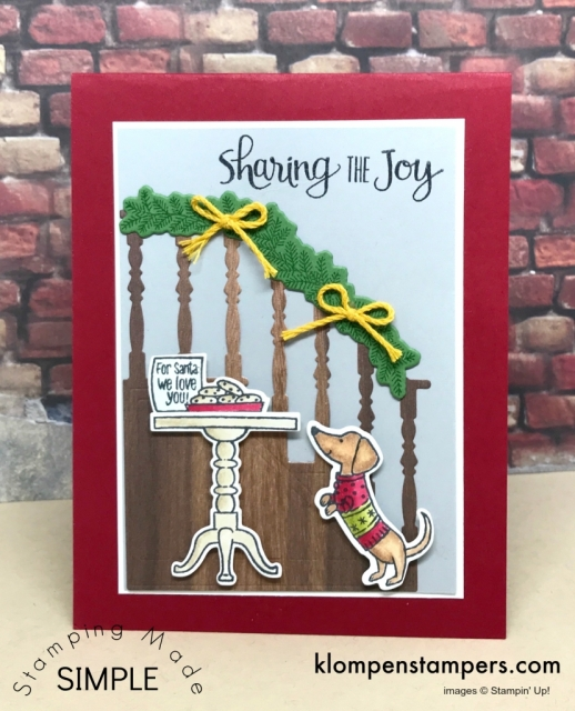 Cutest Christmas Card ever! Made with Ready for Christmas stamp set.