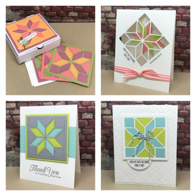 Christmas Quilt online stamping class. Tutorial for projects plus a video filled with tips.