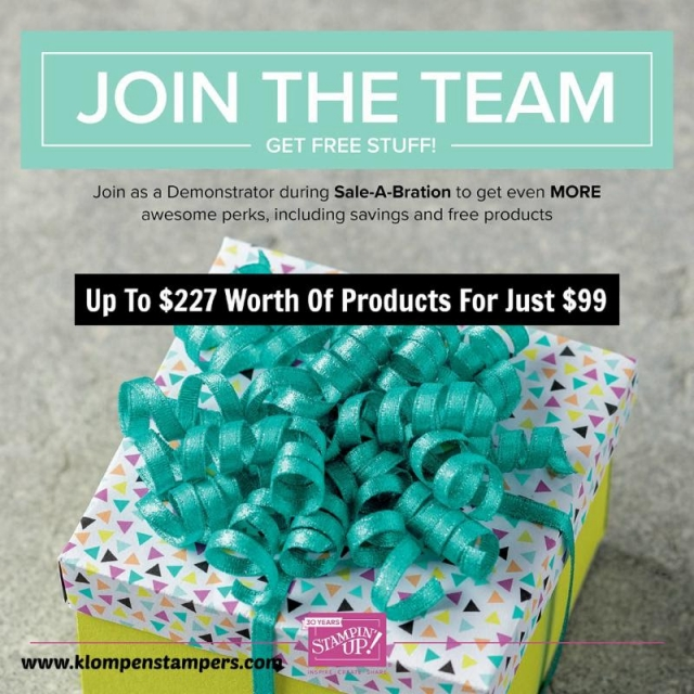 If your Stampin' Up! wish list is more the $100, best way to get your products is with this discount!