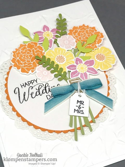 Special Wedding card using Beautiful Bouquet bundle.