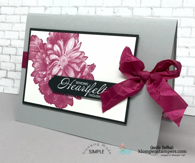 Heartfelt Blooms stamp set is a freebie you can get during Sale-a-bration. Details at klompenstampers.com