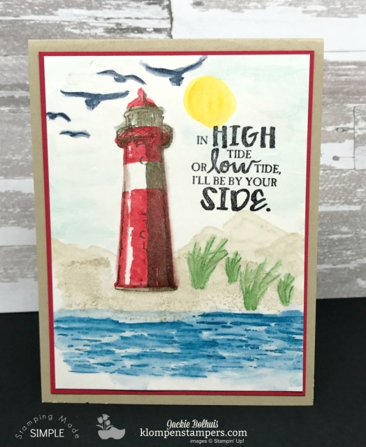 Easy Watercolor Technique using High Tide & Waterfront stamp sets