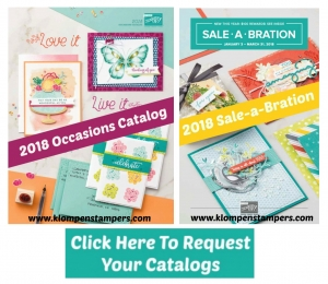 Request your free copies of the 2018 Stampin' Up! Occasions Catalog and Sale-a-bration Brochure from Jackie Bolhuis at klompenstampers.com