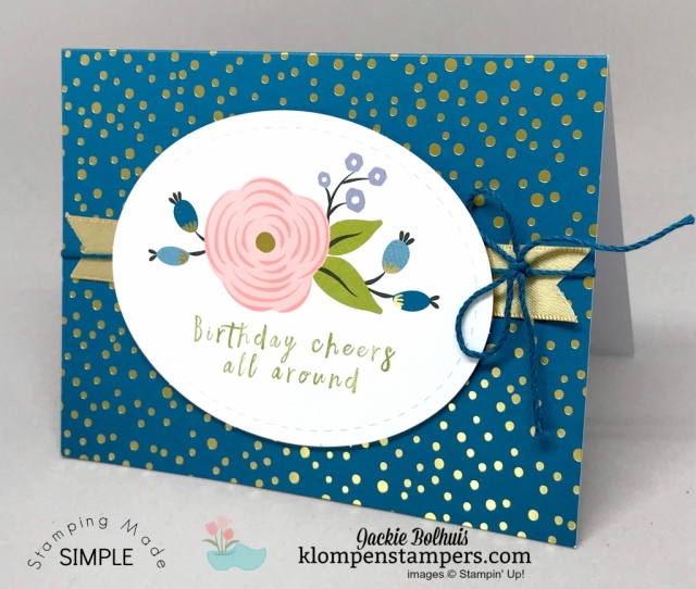 Purchase the Perennial Birthday Kit & Stamp Set and receive a Bonus Card kit to make 4 additional cards that just use the stamp set.