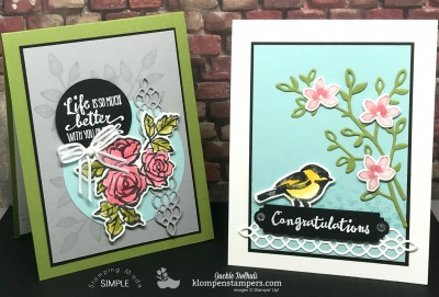 Petal Palette Card Kit and Stamping Class
