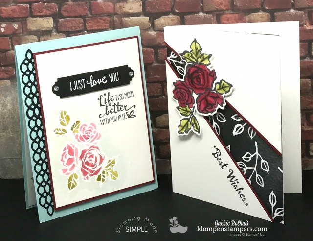Petal Palette online stamping class + card kit.