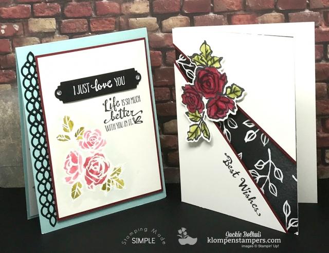 Petal Palette online stamping class + card kit.