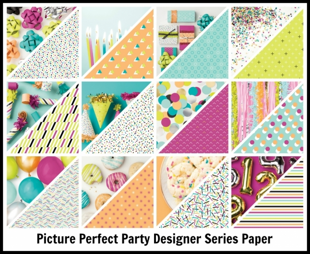 Picture Perfect Designer Series Paper (DSP). Great for quick and easy cards.