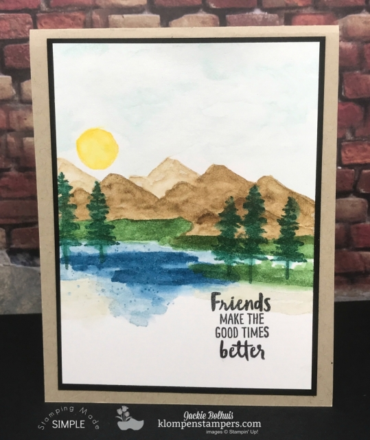 Easy Watercoloring using Waterfront stamp set. Video and instructions posted at klompenstampers.com