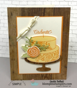 Cake Soiree stamp set and Sweet Cake Framelits card made by Jackie Bolhuis, Klompenstampers.com