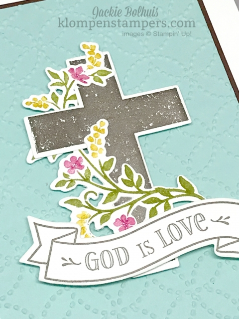 Hold on to Hope makes gorgeous cards for many occasions. Combine with Cross of Hope Framelits to make beautiful cards.