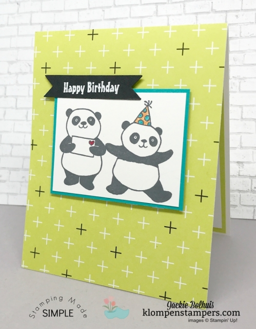 Party Pandas quick & easy cards. All details posted at klompenstampers.com