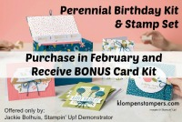 Perennial Birthday free bonus card kit with purchase