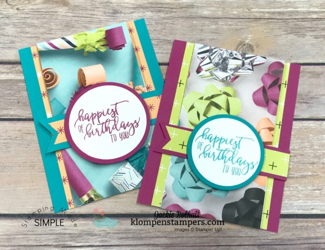 Fun Fold Card Using Stampin' Up Picture Perfect Designer Paper