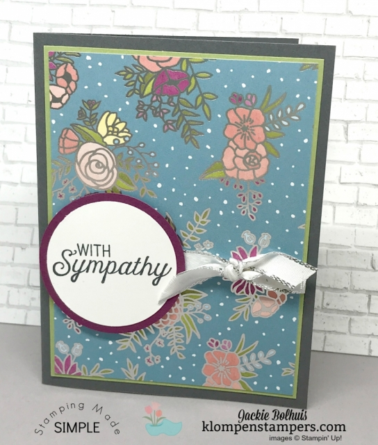Quick & easy cards using Sweet Soiree Designer Series Paper DSP.