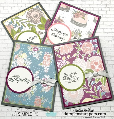 Quick & Easy Cards with Sweet Soiree DSP