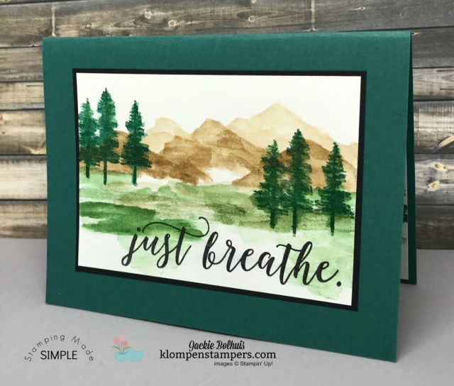 Quick & easy watercolored card using waterfront stamp set.