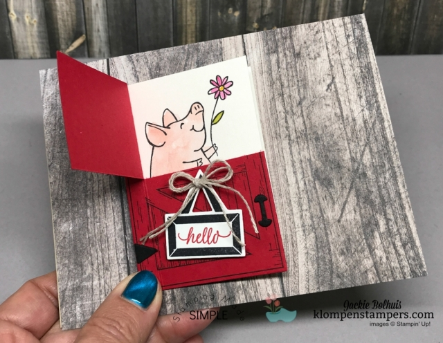 Video showing how to make cards using the Barn Door Bundle from Stampin' Up!