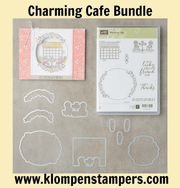 Charming Cafe bundle from Stampin' Up 2018 Occasions Catalog