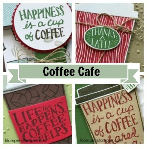 Coffee Cafe tutorial for 4 different cards