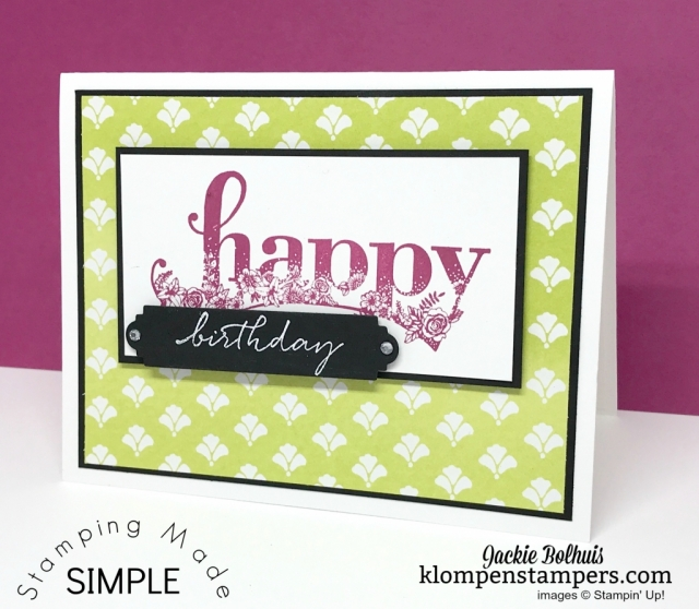 Happy Wishes from the 2018 Sale-a-bration. By Jackie Bolhuis, Klompen Stampers