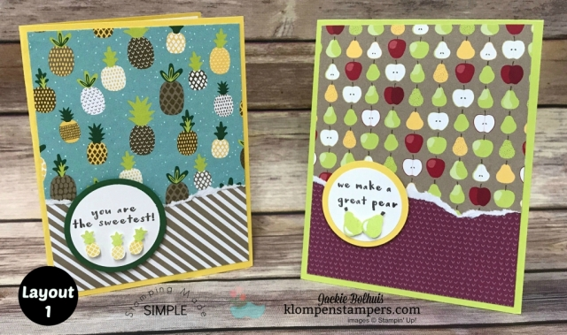 Quick and easy card layouts using Tutti Frutti Paper
