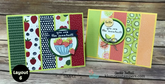 You Are the Sweetest- Tutti-Frutti Paper! Layout 6