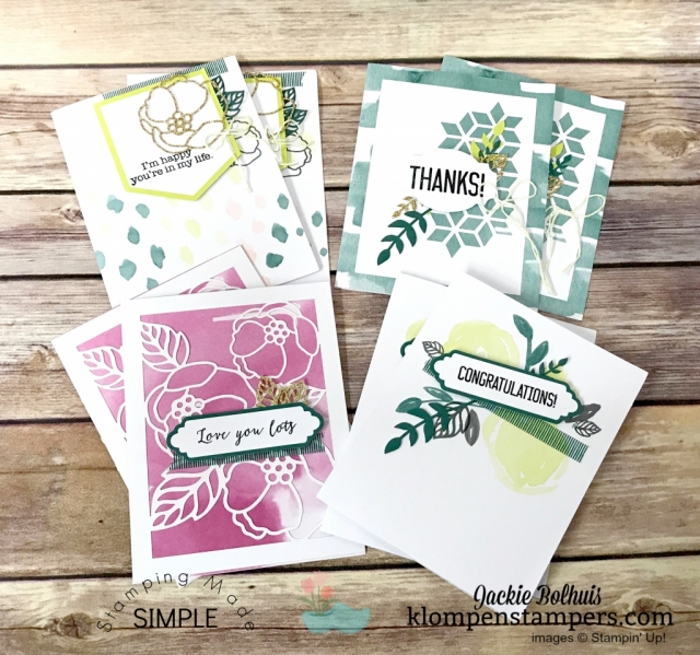 Soft Saying card kit from Stampin' Up! An all-inclusive kit to make 20 cards