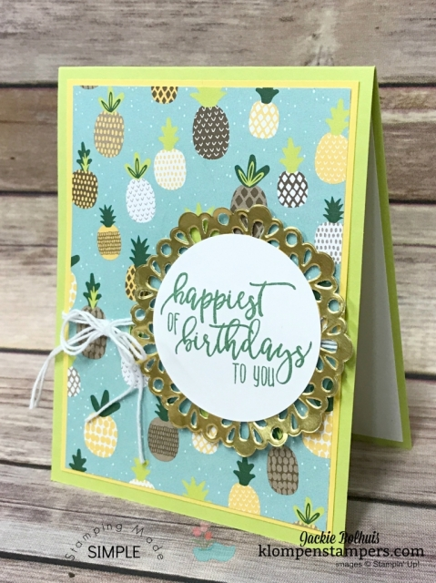 Quick & easy cards made using Tutti-Fruitti Designer Series Paper. Stamping Quick Tip video posted showing how easy to make.