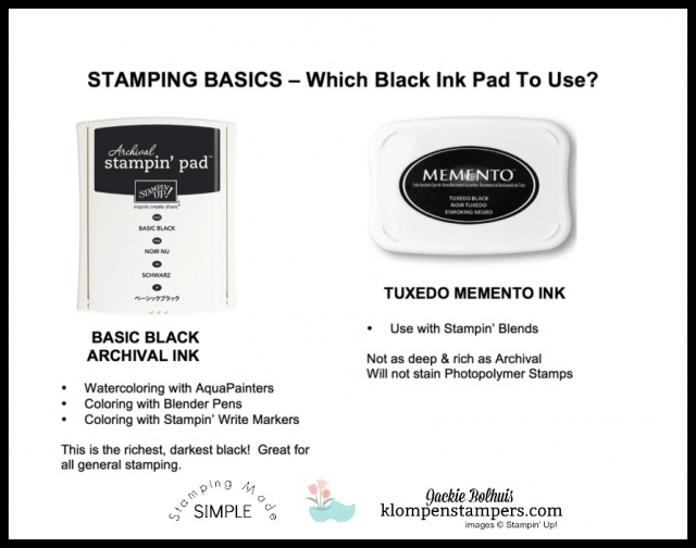 Learn which Black Ink Pad to use depending on what you are stamping or coloring with.