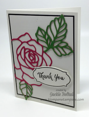 Stamping technique using Rose Wonder Stampin' Up!