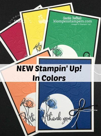 New 2018-2020 Stampin' Up! In Colors.