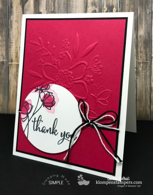 Love What You Do + Lovely Lipstick NEW Stampin Up Color