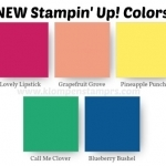 Check Out The New Stampin' Up! Colors