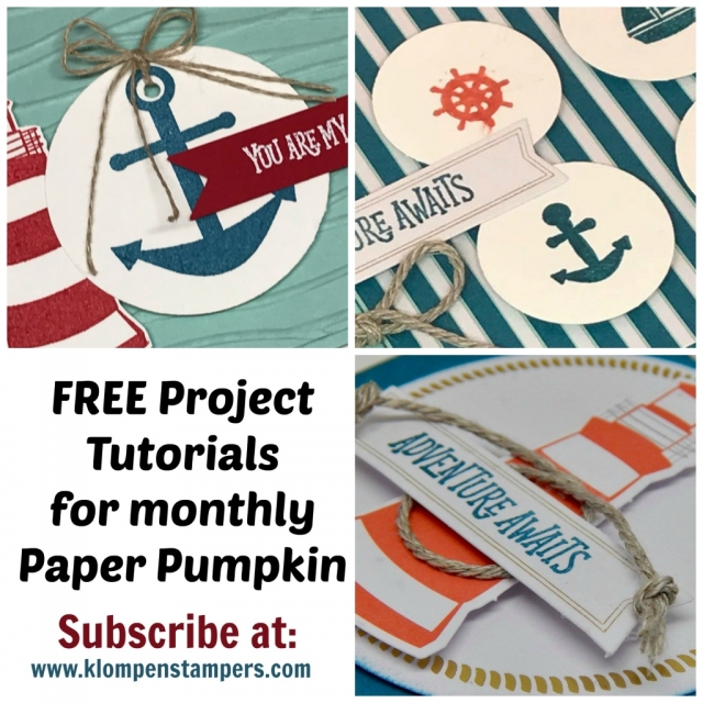 FREE TUTORIALS when you subscribe to Paper Pumpkin