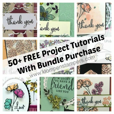 50+ FREE Tutorials using the Love What You Do Bundle from Stampin Up