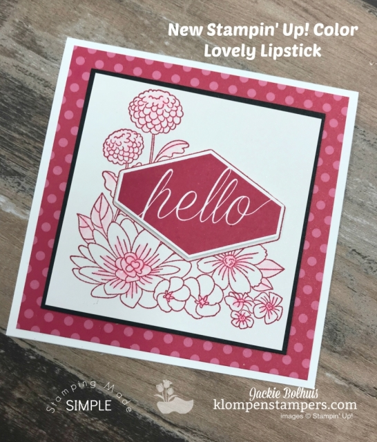 Accented Blooms Stamp Set with Stampin Up New In Color Lovely Lipstick