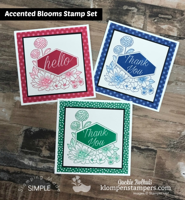 Accented Blooms and Tailored Tag Punch Stamps in the Mail