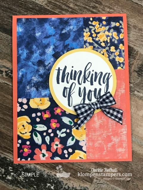 Simple Handmade Card 4 Featuring Garden Impressions Designer Paper