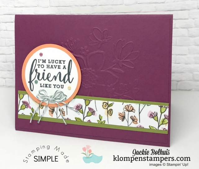 One Sheet Wonder (OSW) using the Share What You Love Specialty Designer Series Paper.
