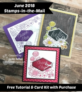 Stamps in the mail using Accented Blooms stamp set