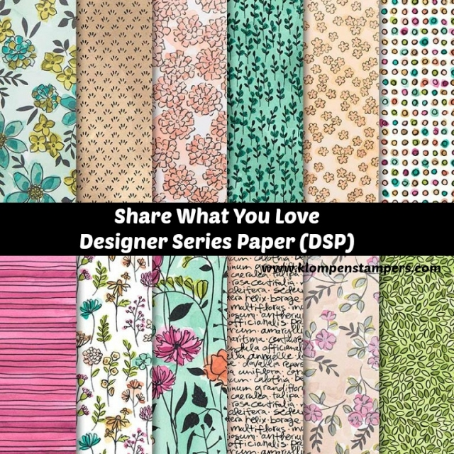 Share What You Love Designer Series Paper