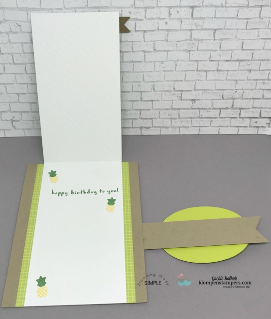 Fun Fold Card using Tutti Fruitti Designer Series Paper