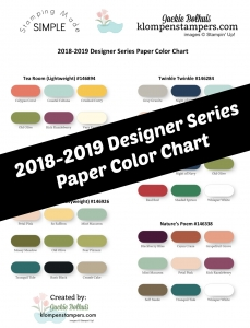 Designer Series Paper Color chart